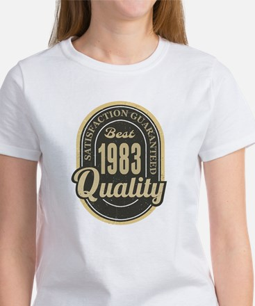 Satisfaction Guaranteed Best 1983 Quality T-Shirt