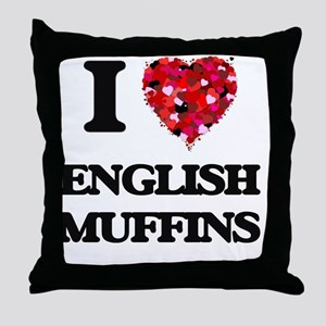 I love English Muffins Throw Pillow