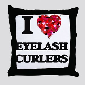 I love Eyelash Curlers Throw Pillow