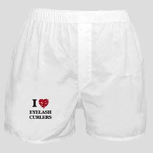I love Eyelash Curlers Boxer Shorts