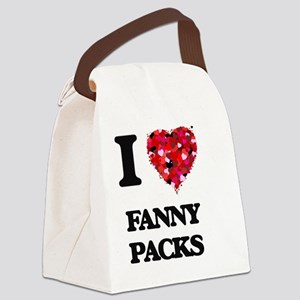 I love Fanny Packs Canvas Lunch Bag