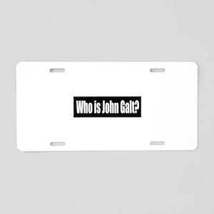 Who is John Galt? Aluminum License Plate