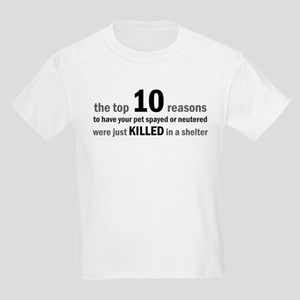 10 Reasons to Spay/Neuter Kids Light T-Shirt