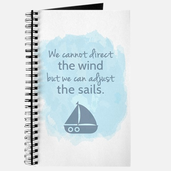 Nautical Sail boat Mentality Quote Journal