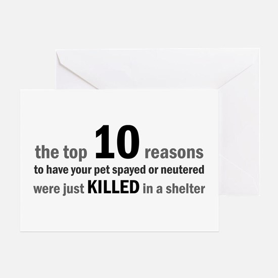 10 Reasons to Spay/Neuter Greeting Card
