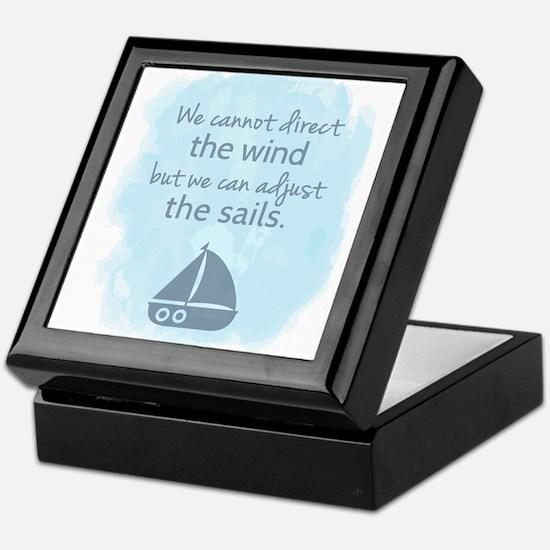 Nautical Sail boat Mentality Quote Keepsake Box