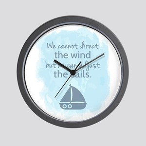 Nautical Sail boat Mentality Quote Wall Clock
