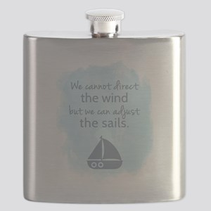 Nautical Sail boat Mentality Quote Flask