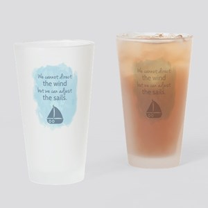 Nautical Sail boat Mentality Quote Drinking Glass