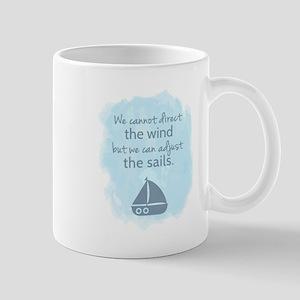 Nautical Sail boat Mentality Quote Mugs