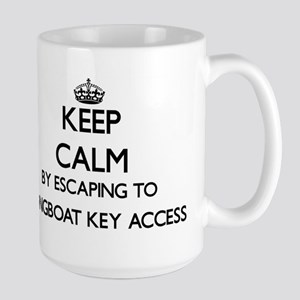 Keep calm by escaping to Longboat Key Access Mugs
