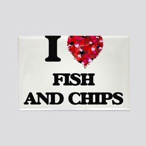 I love Fish And Chips Magnets