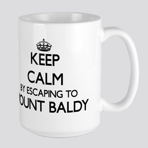 Keep calm by escaping to Mount Baldy Indiana Mugs