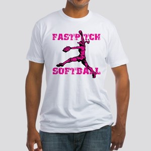 Distressed Fastpitch Fitted T-Shirt