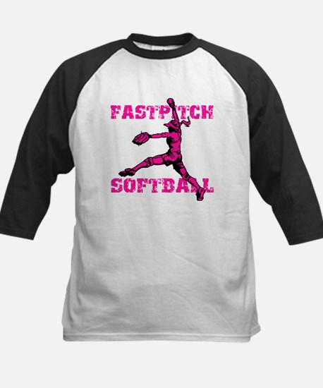 Distressed Fastpitch Kids Baseball Jersey