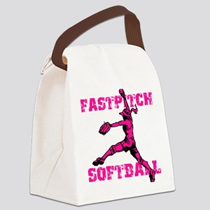 Distressed Fastpitch Canvas Lunch Bag