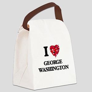 I love George Washington Canvas Lunch Bag