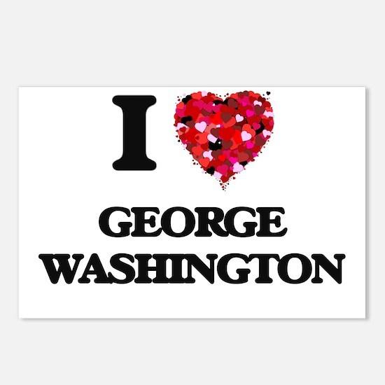 I love George Washington Postcards (Package of 8)