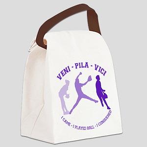 VENI-PILA-VICI Canvas Lunch Bag