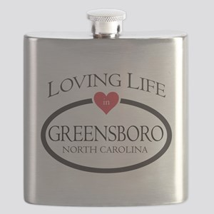 Loving Life in Greensboro, NC Flask