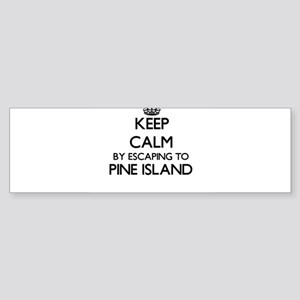 Keep calm by escaping to Pine Islan Bumper Sticker