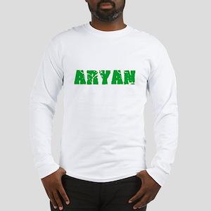 Aryan Name Weathered Green Des Long Sleeve T-Shirt