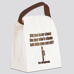 All Right Canvas Lunch Bag