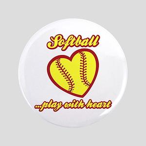 "PLAY w HEART 3.5"" Button"
