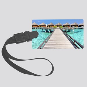 path to paradise Large Luggage Tag