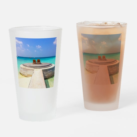 paradise for two Drinking Glass