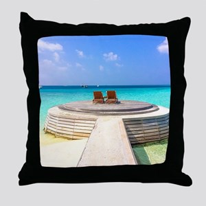 paradise for two Throw Pillow