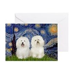 Starry Night / 2 Bolognese Greeting Card