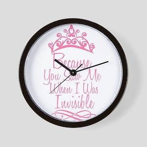 Invisible Princess Wall Clock