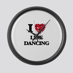 I love Line Dancing Large Wall Clock