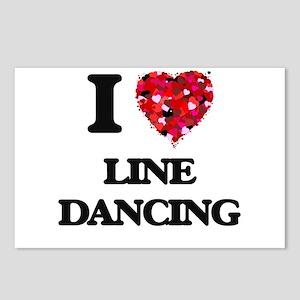 I love Line Dancing Postcards (Package of 8)