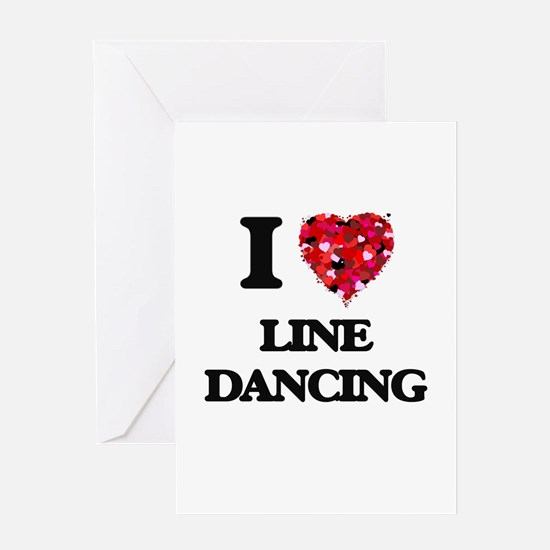 I love Line Dancing Greeting Cards