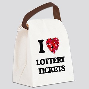 I love Lottery Tickets Canvas Lunch Bag