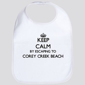 Keep calm by escaping to Corey Creek Beach New Bib