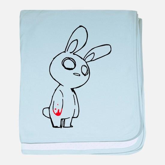 Zombie Bunny baby blanket