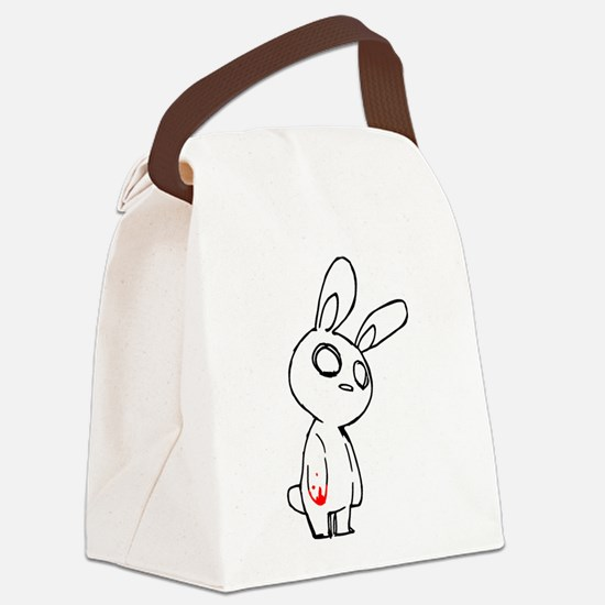 Zombie Bunny Canvas Lunch Bag