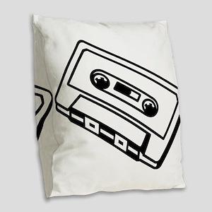 Cassette Burlap Throw Pillow