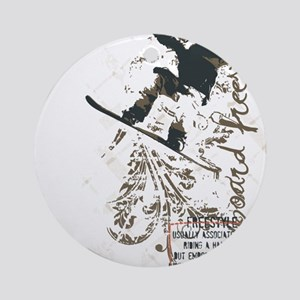 Snowboarding Freestyle Round Ornament