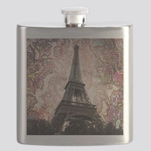 Floral Eiffel Tower Flask