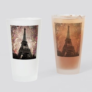 Floral Eiffel Tower Drinking Glass