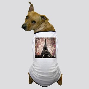 Floral Eiffel Tower Dog T-Shirt