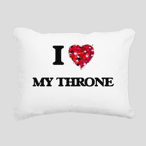I love My Throne Rectangular Canvas Pillow