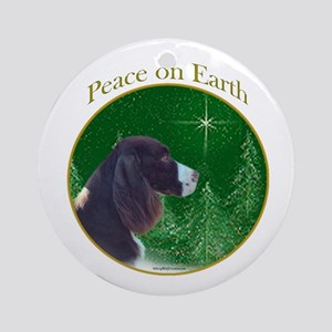 English Springer Peace Ornament (Round)