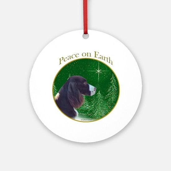 English Springer Peace Ornament (Round)