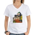 Frontenac Castle Quebec City Women's V-Neck T-Shir