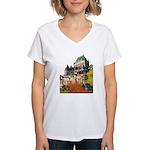 Frontenac Castle Quebec City Women's V-Neck T-Shir
